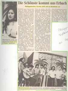 Zeitungsbericht eines Auftritts des Vereins, 1994