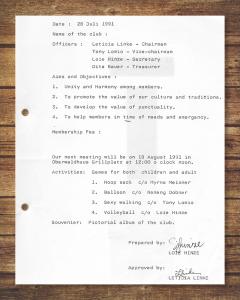 Protokoll der Gründungssitzung v. 28. Juli 1991